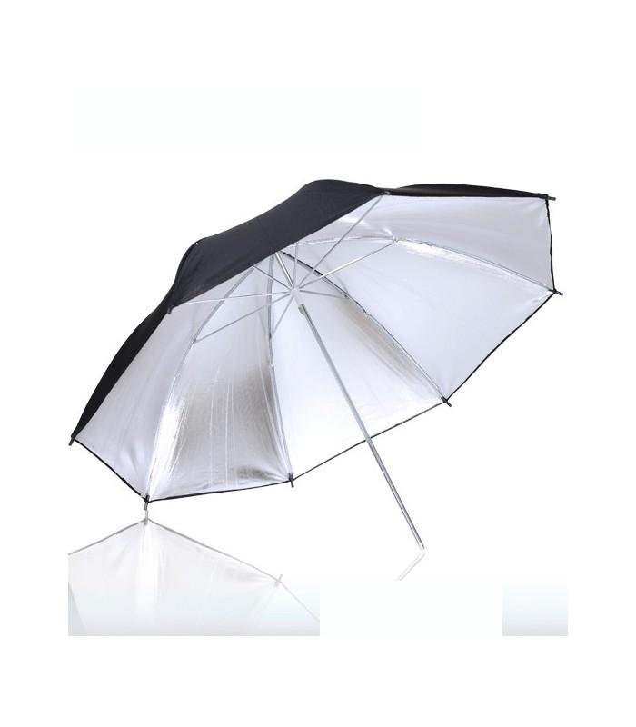 Somita Double-Layer 90cm Silver (Inside) Black (Outside) Umbrella
