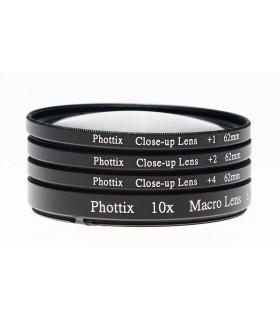 Phottixفیلتر کلوزآپ 1+,2+,4+ ماکرو با دهانه ی52mm