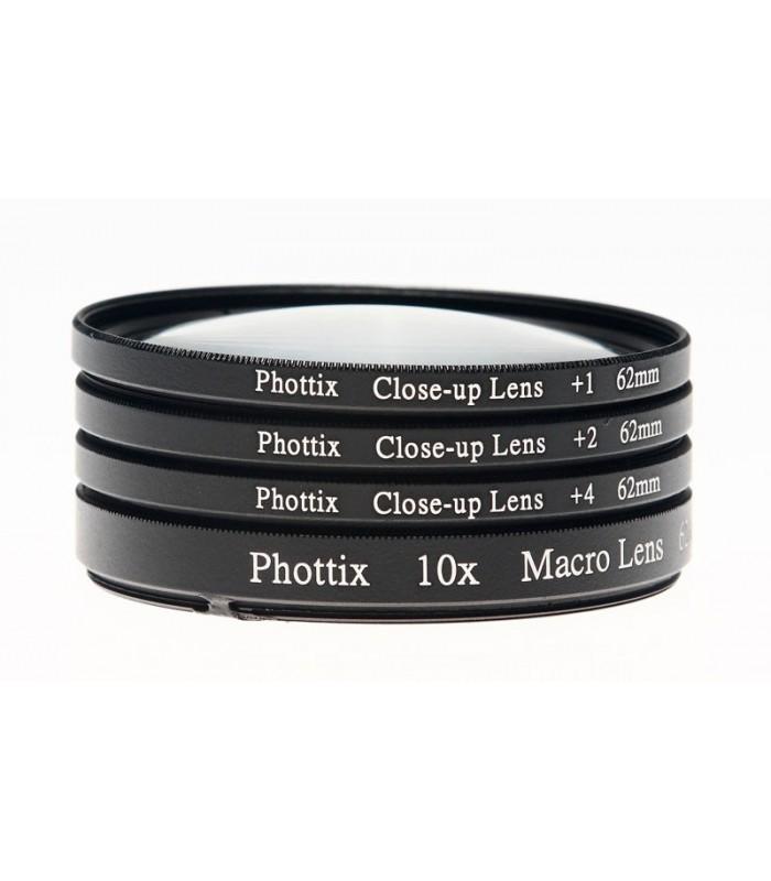 Phottix فیلتر کلوزآپ 1+,2+,4+ ماکرو با دهانه ی 62mm