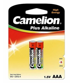 Camelion Plus Alkaline 1.5V AAA Batteries (x2) LR03-BP2