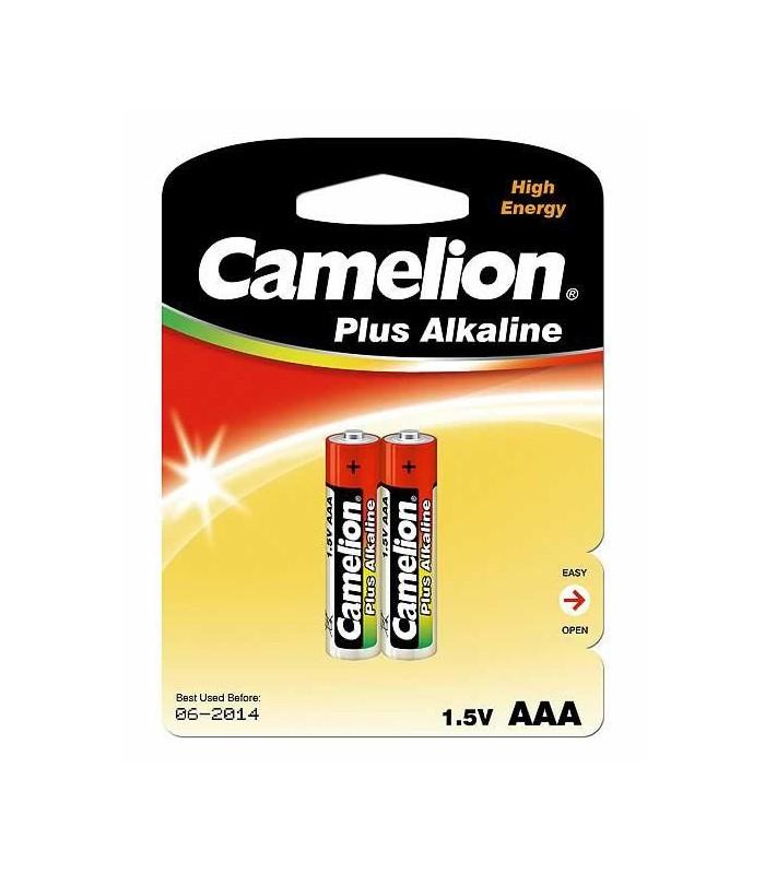 Camelion Plus Alkaline 1.5V AAA Batteries (x2) LR03-BP2
