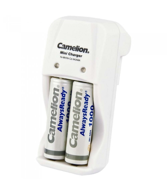 Camelion Always Ready Rechargeable Ni Mh Batteries + Charger BC-1001A