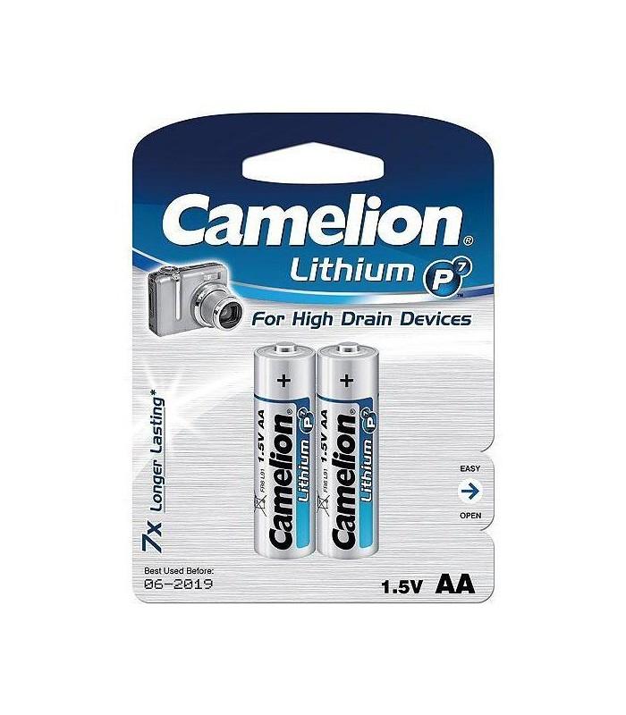 Camelion Battery Lithium P7 2XAA FR6-BP2