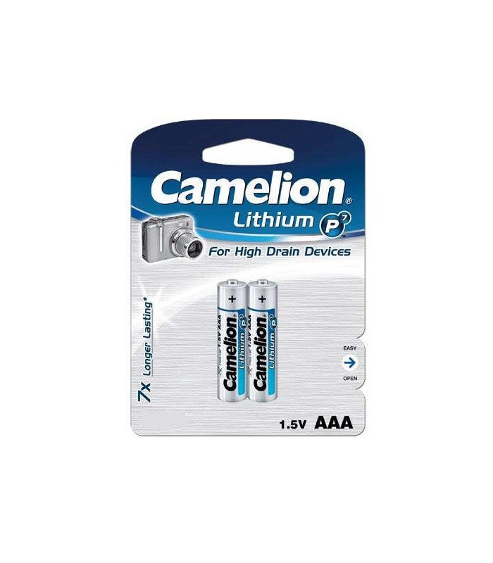Camelion Battery Lithium P7 2XAAA FR03-BP2