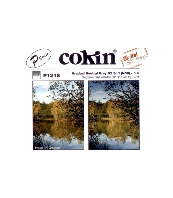 Cokin P Series Graduated G2 Soft Gray Neutral Density Filter (3-Stop) P121S