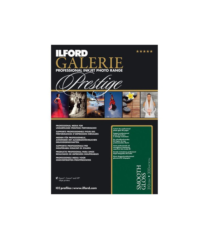 Ilford Galerie Prestige Smooth Gloss Paper (A4 - 25 Sheets)