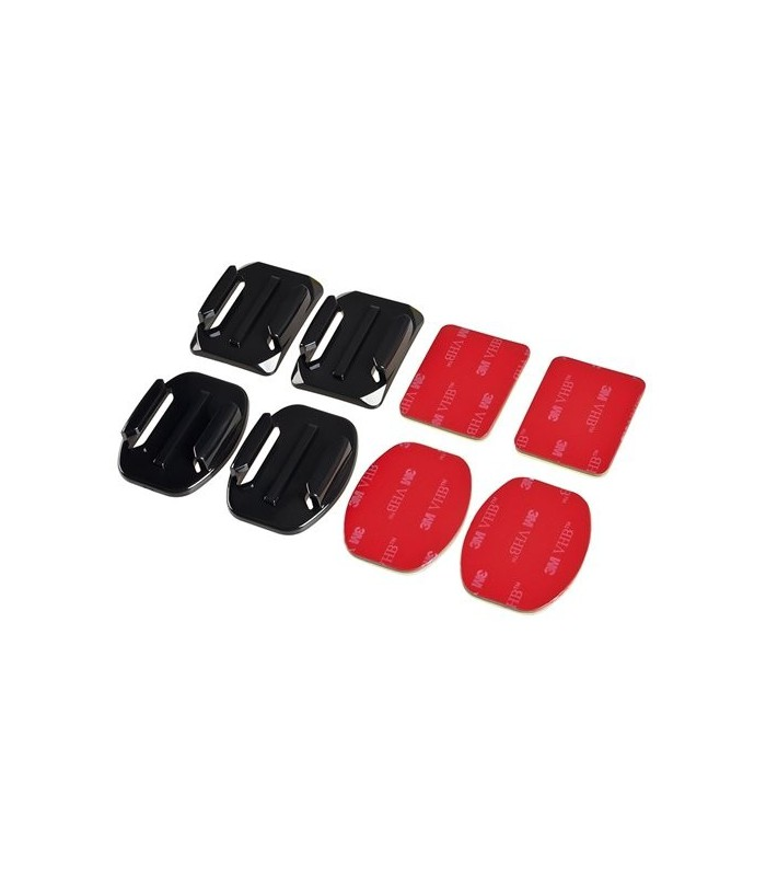 2x Flat & 2x Curved Mounts with 3M adhesive pads, for GoPro Hero 3+321 - GP10
