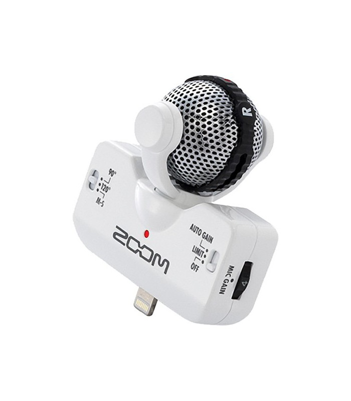 Zoom iQ5 Stereo Microphone for iOS Devices with Lightning Connector