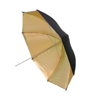 Phottix چتر بازتابنده دو لایه داخل طلایی بیرون مشکی 101سانتی متر ''40