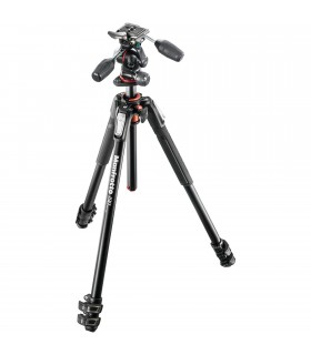 Manfrotto MK190XPRO3-3W Aluminum Tripod with 3-Way Pan Tilt Head