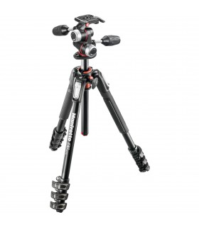 Manfrotto MK190XPRO4-3W Aluminum Tripod with 3-Way Pan Tilt Head