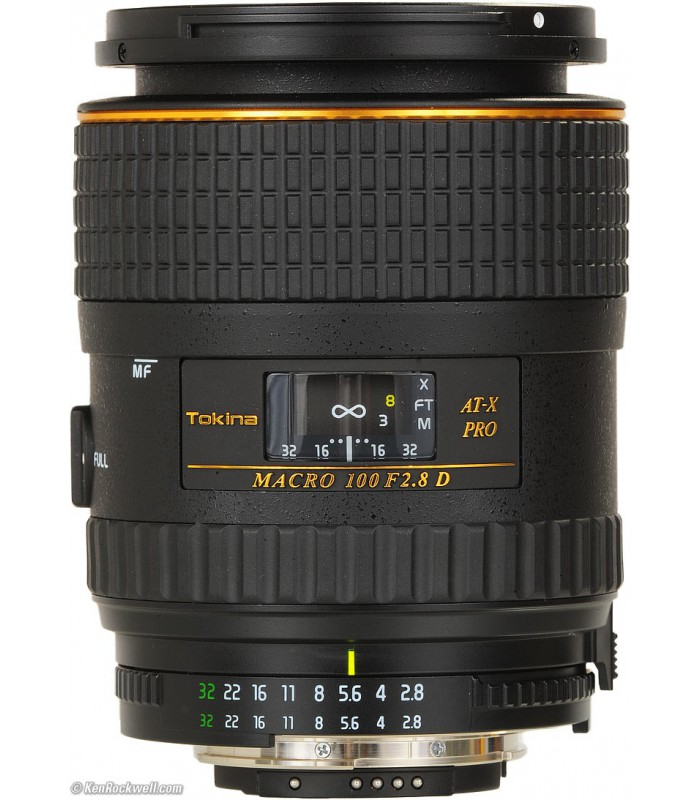 Tokina 100mm f2.8 AT-X M100 AF Pro D Macro Autofocus Lens for Nikon