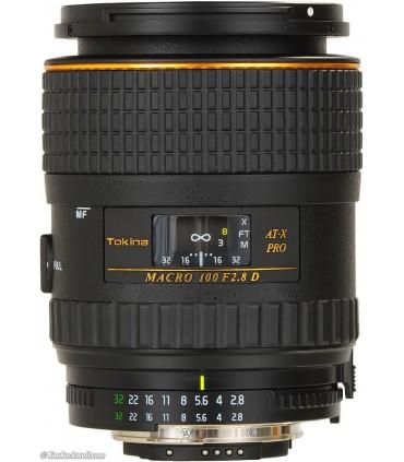 Tokina 100mm f/2.8 AT-X M100 AF Pro D Macro Autofocus - Nikon Mount