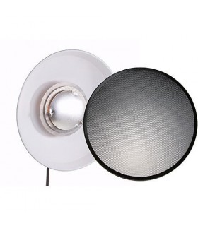 "Hensel 22"" ACW White Beauty Dish Reflector Kit with 22"" Grid"