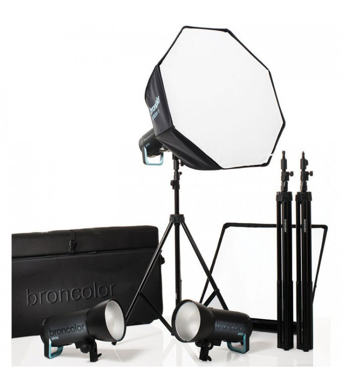 Broncolor Siros 800 S WiFi RFS 2.1 Pro 3-Light Kit