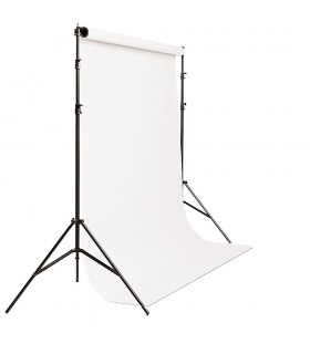 S&S Portable Background Holder + Background Roll 3m x 5m White