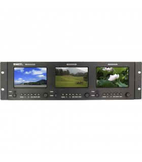 "SWIT M-1051H Triple 5"" 3G SDI/HDMI LCD Monitor (3 RU)"