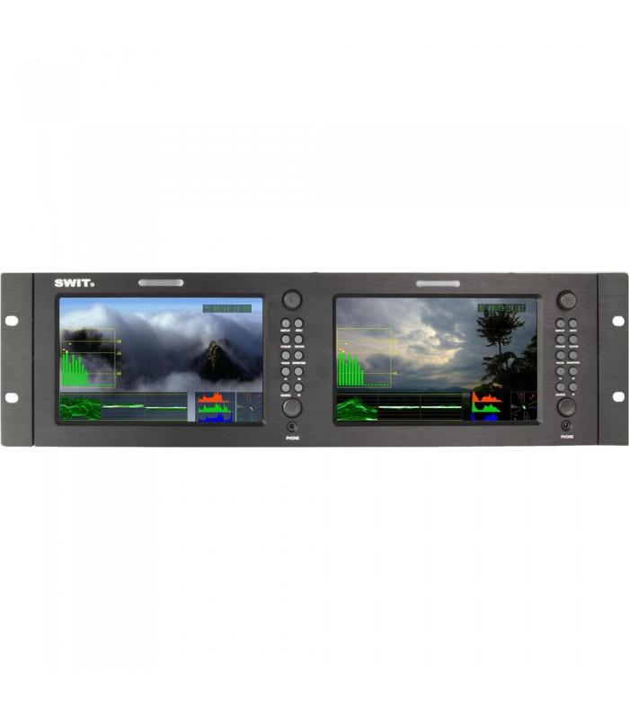 "SWIT M-1071F Dual 7"" HDSDI and HDMI Waveform LCD Monitor (3 RU)"