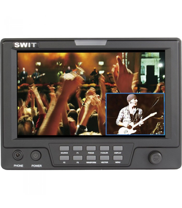 "SWIT S-1071H (EFP) 7"" EFP Field LCD Monitor with Picture-in-Picture Function and Single 3GHD Video Input"