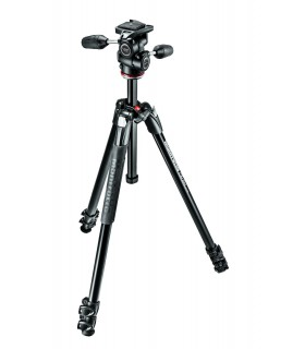 Manfrotto 290 XTRA Alu 3 Tripod with 3W Head Kit - MK290XTA3-3W