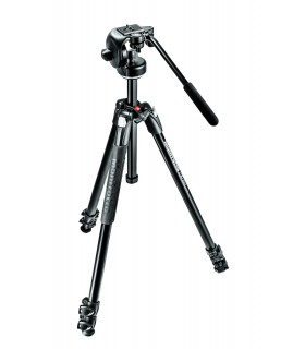 Manfrotto 290 XTRA Alu 3 Tripod with fluid Head Kit - MK290XTA3-2W