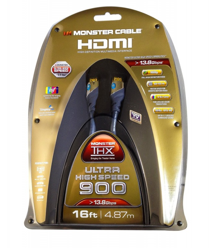 Monster Cable 4' THX Certified 900 Ultra High Speed 1.4 HDMI Cable