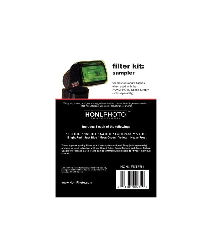 Honl Photo Filter Kit Sampler