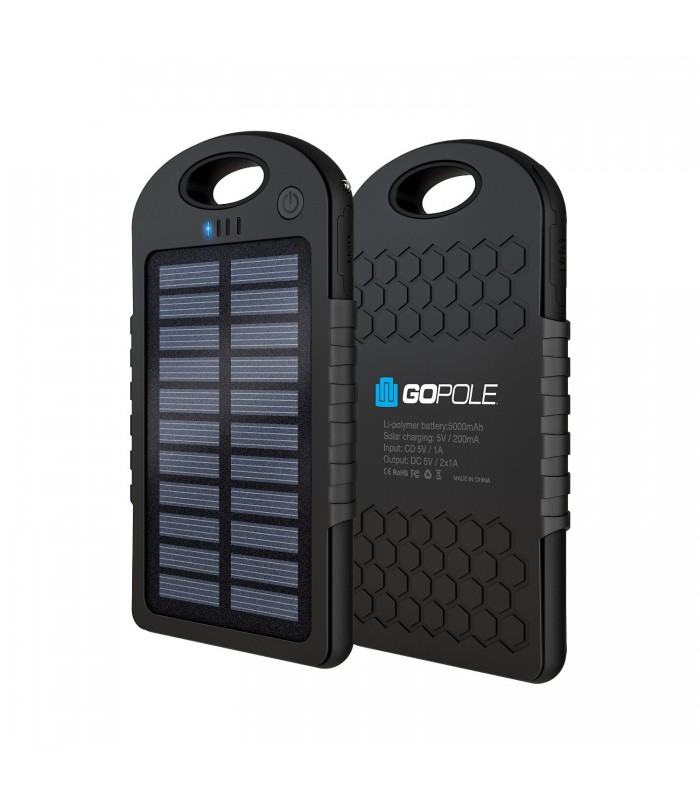 GoPole Dualcharge USB PowerBank + Solar Charger GPP-26