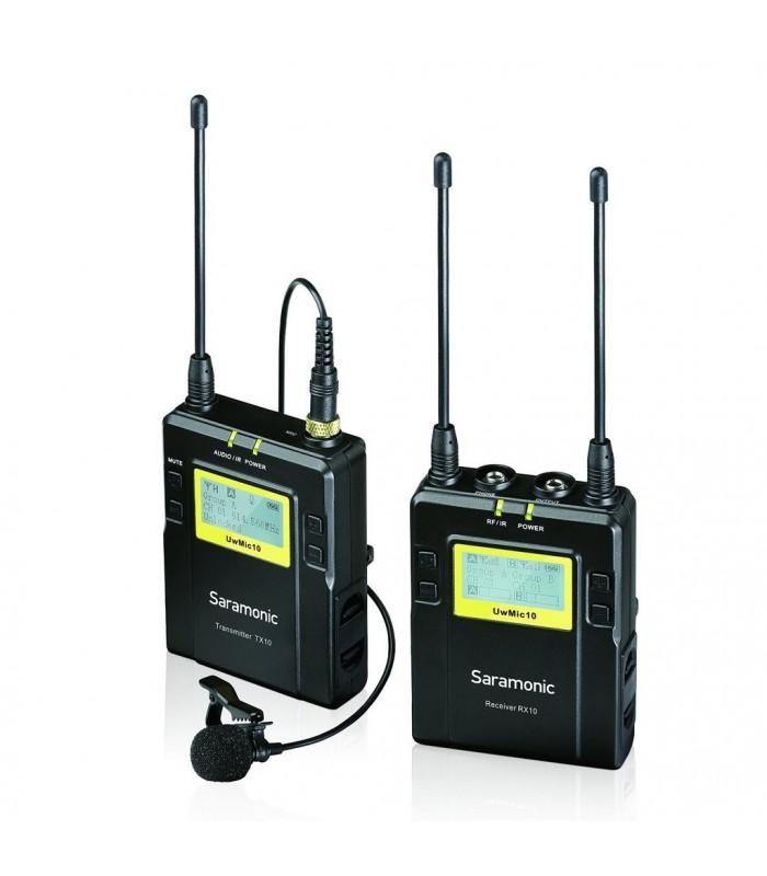 Saramonic UWMIC10 96-Channel Digital UHF Wireless Lavalier Microphone System