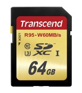 Transcend 64GB UHS-1 SDXC Memory Card (Speed Class 3) - TS64GSDU3