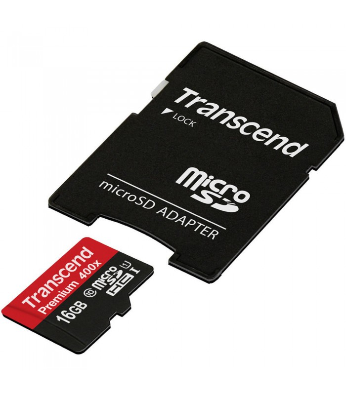 Transcend 16GB Premium 400x microSDHC UHS-I Memory Card - TS16GUSDU1