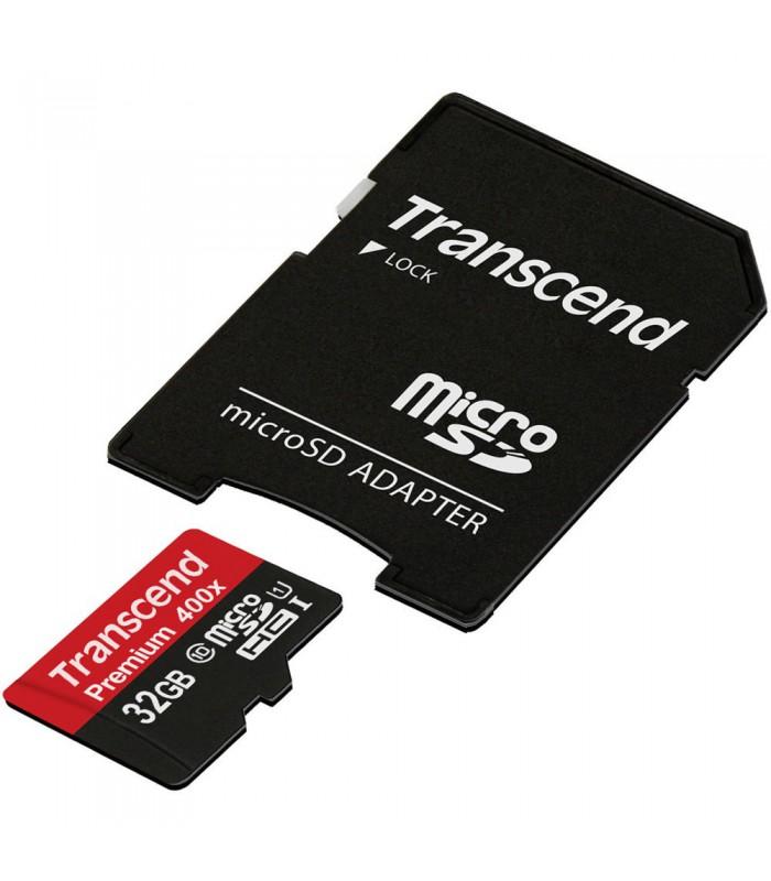 Transcend 32GB Premium 400x microSDHC UHS-I Memory Card - TS32GUSDU1