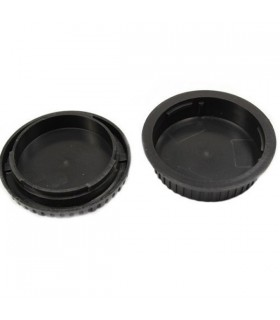 Rear Lens Cover + Camera Body Cap for Canon DSLR