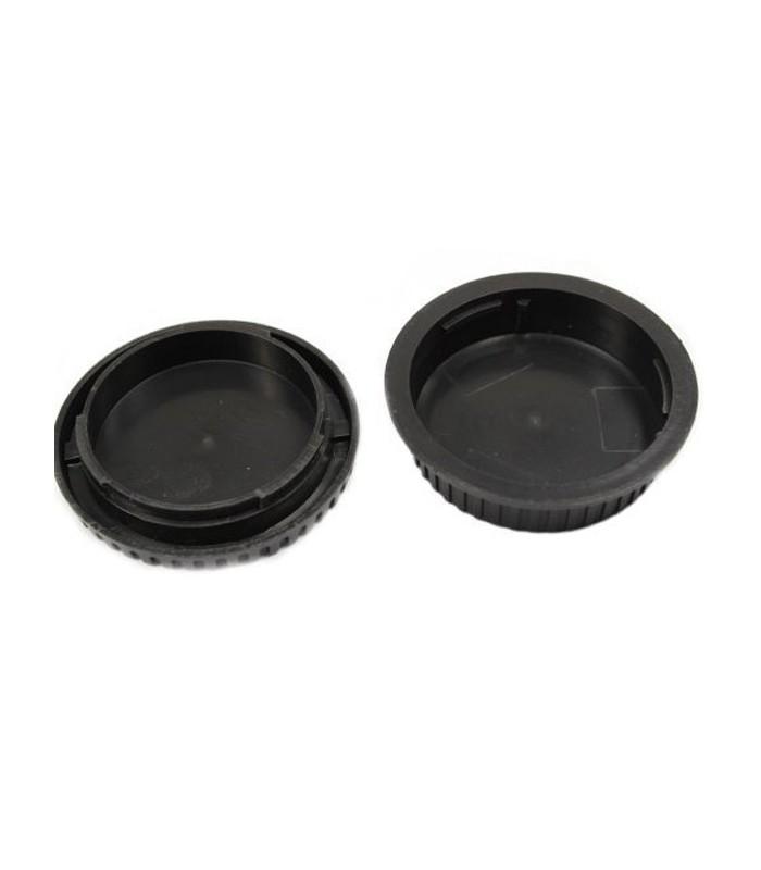 Rear Lens Cover + Camera Body Cap for Canon DSLR