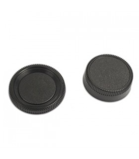 Rear Lens Cover + Camera Body Cap for Nikon DSLR
