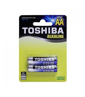 Toshiba Blue Line AA Alkaline 1.5V Batteries 2pk