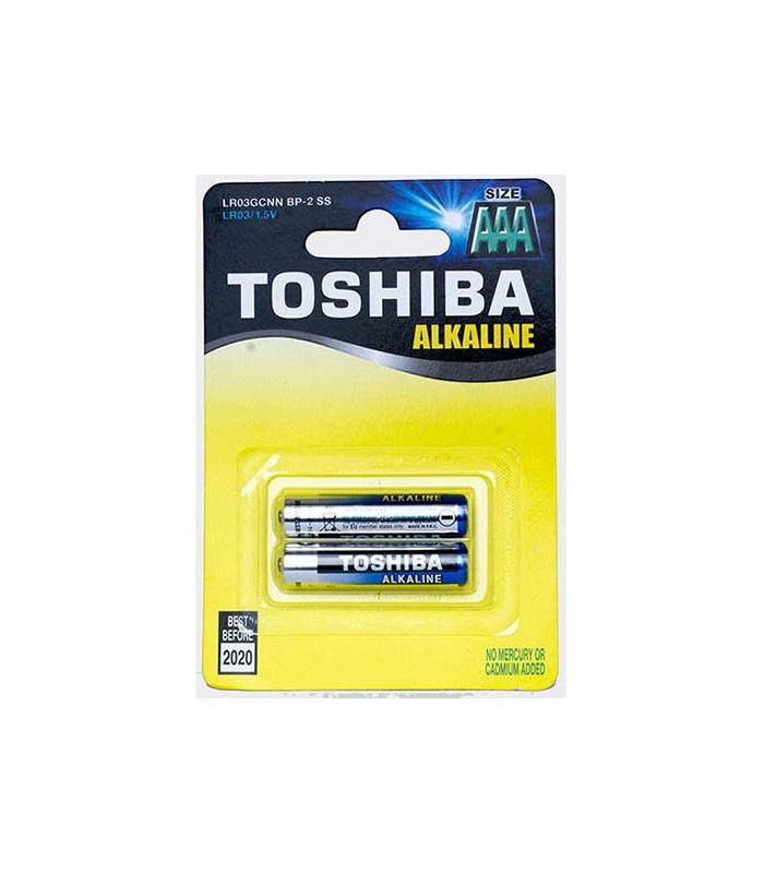 Toshiba Blue Line AAA Alkaline 1.5V Batteries 2pk