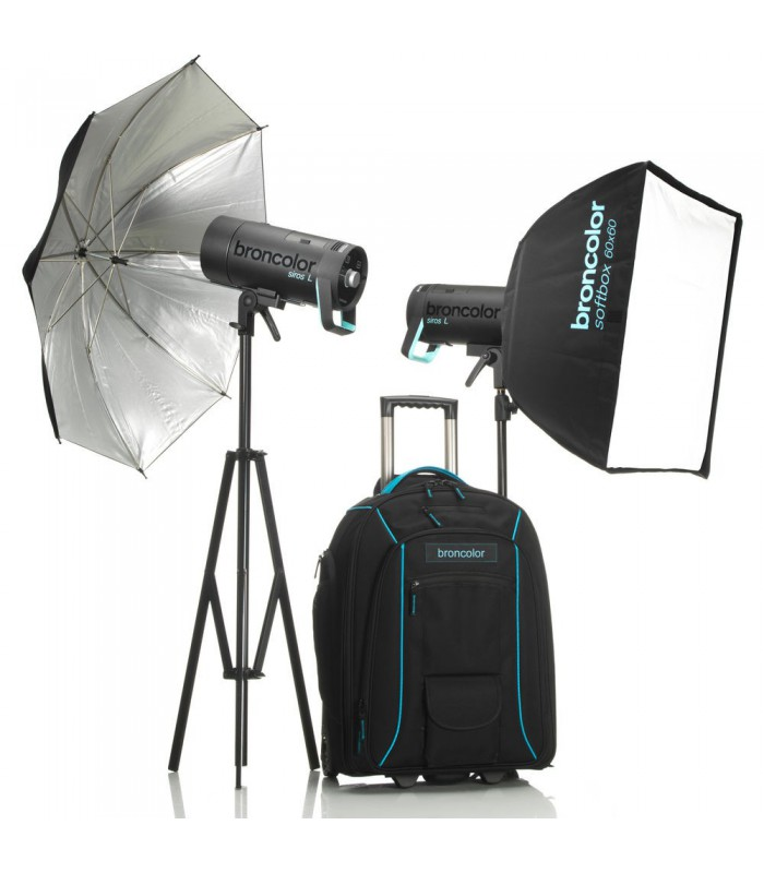 Broncolor Siros L 400Ws Battery-Powered 2-Light Outdoor Kit 2