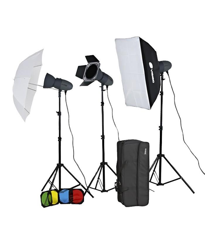 Visico Studio Flash VL-300 PLUS Softbox And Barndoor Kit