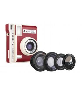 دوربین چاپ سریع Lomo مدل Automat طرح South Beach Red و کیت سهتایی لنز