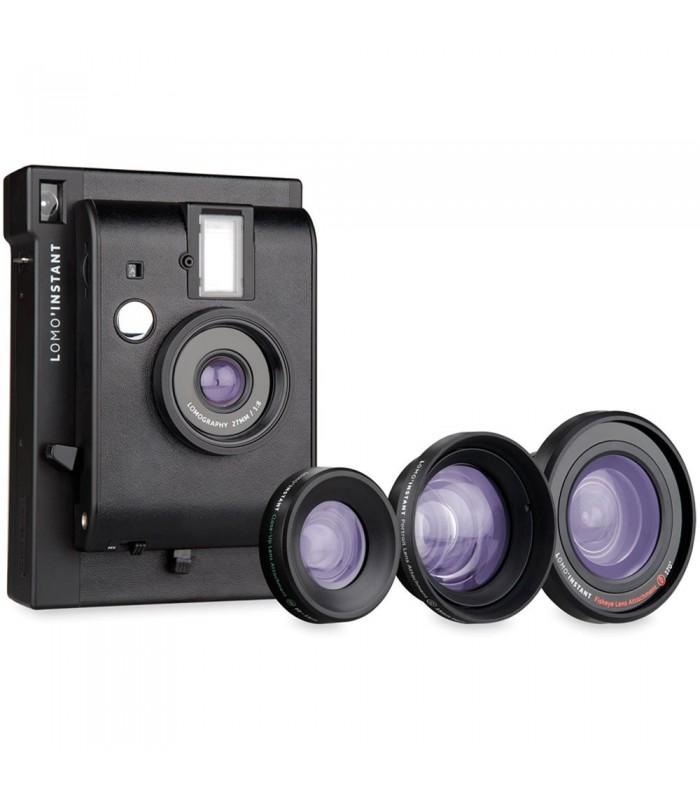 دوربین چاپ سریع Lomo مدل Instant به همراه کیت لنز - مشکی