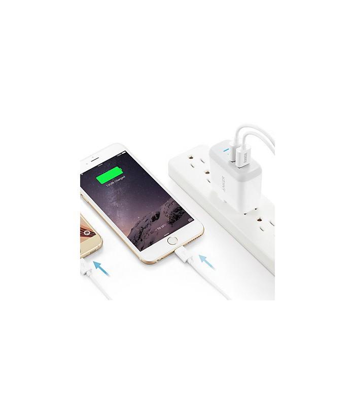 آداپتور شارژر Anker مدل 24W 2-port USB Charger