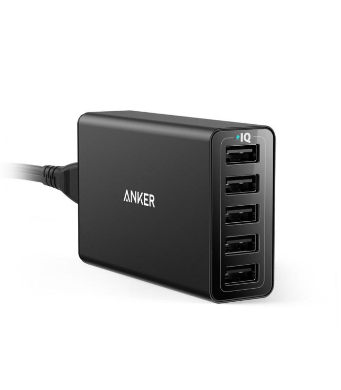 آداپتور شارژر Anker مدل PowerPort 5+ با پنج درگاه USB