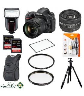 بسته پیشنهادی Deluxe دوربین دیجیتال نیکون مدل D750 بههمراه لنز ۱۲۰-۲۴ و ۵۰ میلیمتر و لوازم جانبی