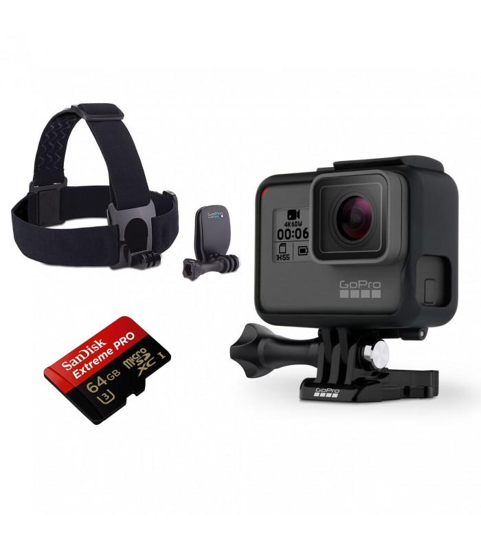 بسته پیشنهادی دوربین گوپرو هیرو 6 همراه هدبند و کارت حافظه 64 گیگابایتی