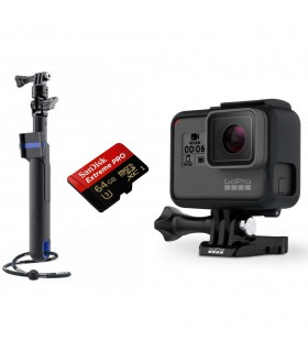 بسته پیشنهادی دوربین گوپرو هیرو 6 همراه مونوپاد SP-Gadgets و کارت حافظه 64 گیگابایتی
