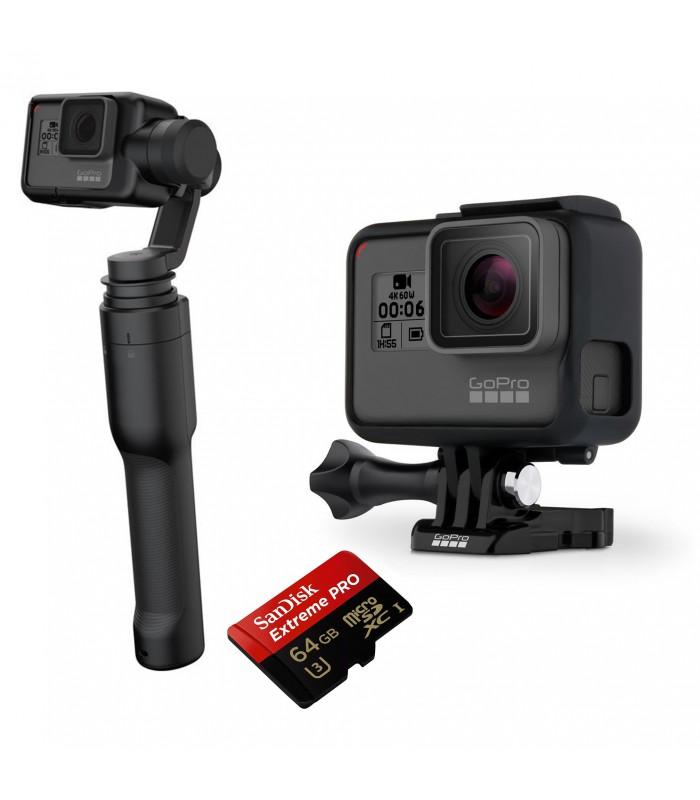 بسته پیشنهادی دوربین گوپرو هیرو 6 همراه لرزشگیر Karma Grip و کارت حافظه 64 گیگابایتی