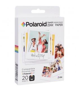 کاغذ عکس 20 تایی پولاروید مخصوص دوربین Polaroid Pop- Zink سایز 3.5x4.25