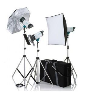کیت 3شاخه فلاش استودیویی دسته دوم Broncolor مدل Visatec Logos BC 300Ws