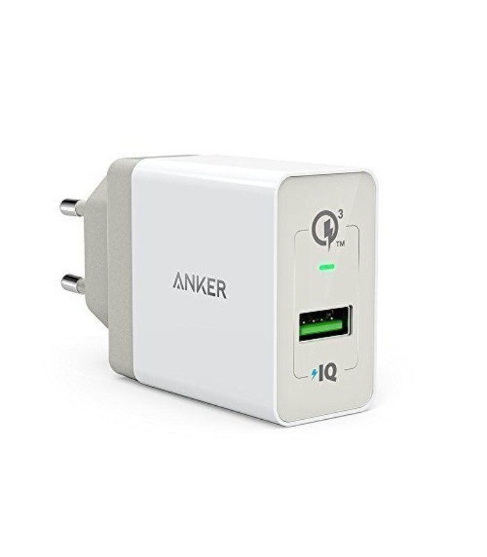 شارژر دیواری انکر 18 وات مدل Quick Charge 3.0 Power Port plus 1 B2013 همراه با کابل micro USB | anker Quick Charge 3.0 Power Port plus 1 B2013 Wall Charger With Micro USB Cable